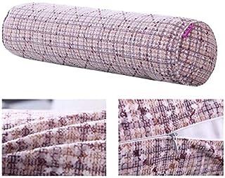 YYBF Almohada Larga de Tela para la Cama de la Columna de la Oficina de la Silla de Fondo Bolster removible Cuello Cama Almohada cilíndrica 40x15cm 4
