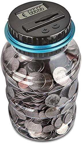 Aoi Spardose Zähler Sparschwein mit LCD Anzeige,automatische Münzenzählglas Sparbüchse große Kapazität, digital Piggy Bank Kinder Freunde (1,8 Liter)