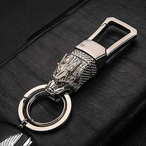 GGOII Schlüsselbund Ehrliche hochwertige Auto Schlüsselanhänger Klassische benutzerdefinierte Beschriftung Schlüsselanhänger Tasche Anhänger Schlüsselanhänger Halter Ring Schmuck TierSilber