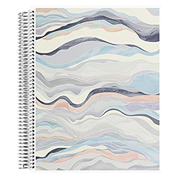 8.5  x 11  Spiral Bound Dotted Grid Notebook - Layers Neutral 5mm Dot Grid 160 Page Writing Drawing & Art Notebook 80Lb Thick Mohawk Paper Stickers Included by Erin Condren.