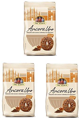 Tre Marie - Ancora Uno, Frollino con Cacao e Granella di Nocciola - 3 confezioni da 300 g [900 g]