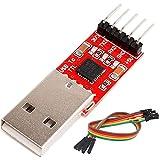 AZDelivery CP2102 USB a TTL Convertidor HW-598 para 3,3V y 5V con cable puente Jumper con eBook incluido