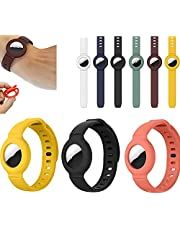3 Pack for Apple Airtag Silicone Band Bracelet Protective Case, GPS Tracking Strap of Protective Cover Anti-Lost Wristband Locator (A)