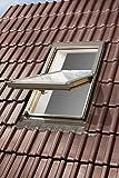 Dachfenster ist aus Holz Wärmedurchgangskoeffizient: U Scheibe = 1,1 W/m2K, U Fenster = 1,5 W/m2K Die äußere Scheibe ist gehärtet. Die Außenabdeckung besteht aus Aluminiumblech Ein-Kammer-Scheibensystem (4H-16-4T) mit der Dicke von 24 mm, die äußere ...