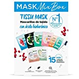 Garnier Skin Active Tissu Mask, Pack de Mascarillas Ácido Hialurónico, Efectos Diferentes: Energizante, Calmante, Matificante, Detox, Iluminadora, Reparadora, Antifatiga y Revitalizante, 40 Unidades
