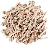 Lawei - Confezione da 100 mini bastoncini di miele in legno, per erogare miele e bomboniere, 100 pezzi