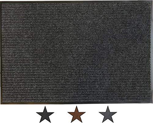 oKu-Tex Felpudo, Polipropileno, Antracita, 60 x 120 x 0,75 cm