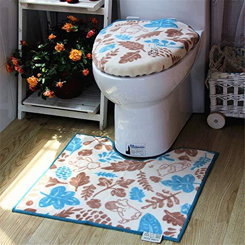 YSDDM Badmat Cartoon Japan Stijl Leuke Toilet Stoel Kussen Stoelhoezen Drie stuks Set Dikke Pad Huishoudelijke Badkamer Decoratie-in Toilet Stoelhoezen
