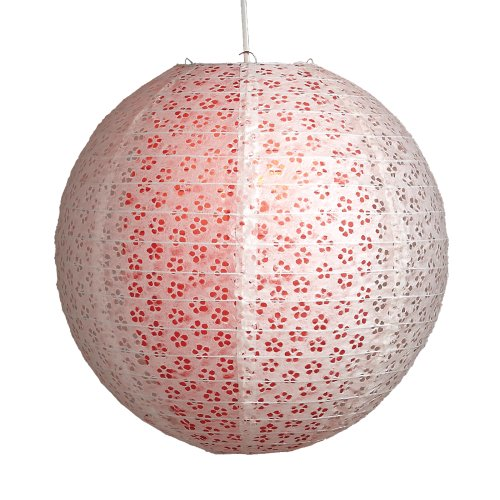 Lighting Web Suspension boule en papier Motif dentelle Fushia 40,5 cm