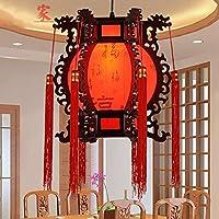 中国風の古典的な木製の宮殿のランプ ペンダントライト 家庭用LED省エネ天井ランプ、モダンな雰囲気のリビングルーム、ティーハウス、廊下、ホール、学習室、ボックス、寝室のシャンデリア