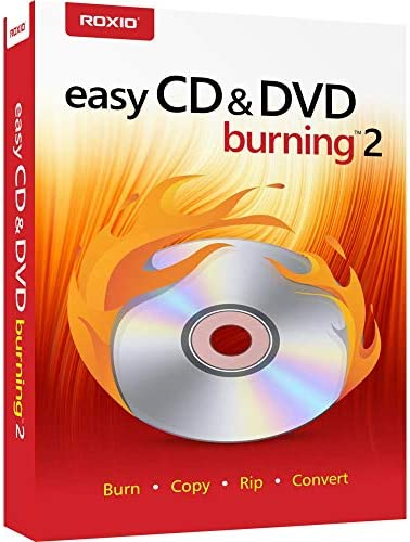 Roxio Easy CD DVD Burning 2 Disc Burner Video Capture PC Disc product image