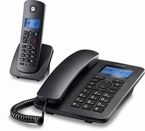 Motorola C4201 Tischtelefon mit Mobilteil schwarz