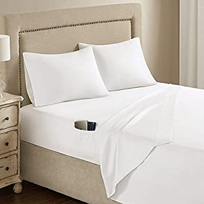 Comfort Spaces Ultra Soft and Smooth Hypoallergenic Microfiber Sheet Set with Side Pocket