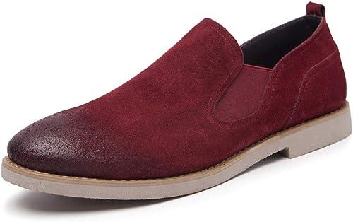 LYZGF Hommes Jeunes Printemps été été été Mode Décontracté Paresseux Chaussures en Cuir Simples 3e3