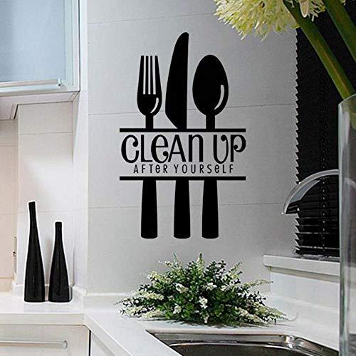 Englisch Sprüche Restaurant Hotel Küchenmesser und Gabel Aufkleber auf die Glastüren und abnehmbare, wasserdichte Tapete Hintergrund Malerei befestigt