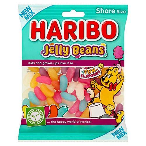 2 x BAGS HARIBO SWEETS PACKS - FRESH STOCK (JELLY BEANS 140g)