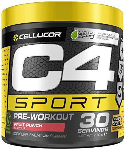C4 Sport Pre Workout Powder Fruit Punch | Informed-Sport Certified + Preworkout Energy Drink Supplement for Men & Women | 135mg Caffeine + Beta Alanine + Creatine | 30 Servings