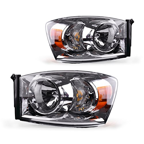 AUTOSAVER88 Headlight Assembly Compatible with 2006-2008 Dodge Ram 1500/2006-2009 Dodge Ram 2500 3500 Replacement Headlamp Driving...