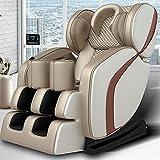 XINQITE 2021 New Massage Chair: Zero Gravity Massage Chair, Massage Chairs Full Body Integrated Fullbody Massage Deckchair,8D Space Capsule,Shiatsu Massage Recliner (Golden)