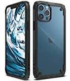 Ringke Cover Fusion-X Compatibile con iPhone 12 PRO Max, Custodia Paraurti Antiurto - Black Nera