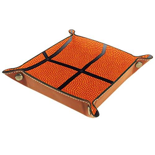 Caja de almacenamiento pequeña, bandeja de valet para hombre,Pelota de baloncesto ,Organizador de cuero para llaves de caja de monedas