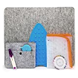 Wool Pressing Mat-17x14 Premium Felted Wool Mat for Quilting, Sewing, Ironing & More- Also Include 14x24 Pressing Cloth Mesh to Protect Delicate Fabrics and Silicone hot Iron Holder for Convenience.