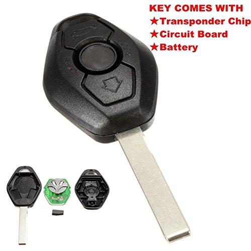 Llave con mando a distancia Katur, con 3 botones en forma de diamante para sistema de BMW, de 433MHz, con microprocesador PCF7935AS y hoja HU92