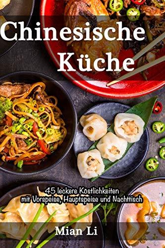 Reispuffer mit scharfem chinesischer Kohlrabi-Gurkensalat