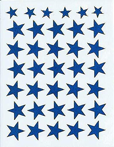 (シャシャン)XIAXIN 防水 ラメ PVC製 スター 星 ステッカー セット 耐候 耐水 STAR キャラクター ごほうび スーツケース ネームプレート 目印 ロッカー 屋内外 兼用 TSS-602 (ブルー)