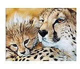 Lcgbw Diy 5D Luna Diamante Pintura Por Número Kit Leopardo Animal Diamantes De Imitación Bordado De Punto De Cruzimágenes Manualidades Decoración De Pared Para El Hogar(Sin Marco)-40cmx50cm