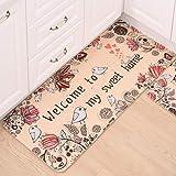 OMUSAKA Cute Cat Floor Mat Mat Cocina Baño Puerta Succión Alfombra Impermeable Alfombra Antideslizante Alfombra de Piso Alfombra Alfombras