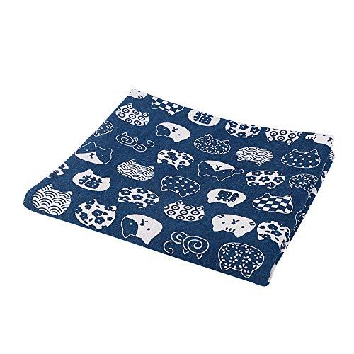 Hongma Baumwollstoffe Kätzchen Katzen Muster zum Nähen Beziehen Kunstwerk DIY MEHRWEG Blue