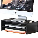 FITUEYES Monitorständer Bildschirmständer aus Holz für Monitor/Laptop/iMac/Fernsher...
