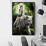 Leinwand Kunstdruck Cartoon Classic Hot japanische Anime Kunst Leinwand Poster Wanddekoration50X75cmRahmenlose Malerei