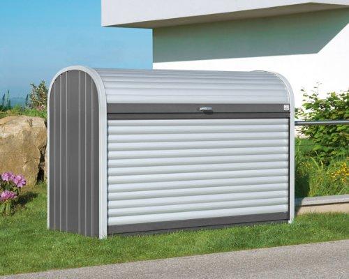 Biohort Geräteschrank Rolladenbox Storemax silber-metallic 117 x 73 x 109 cm (Gr. 120)