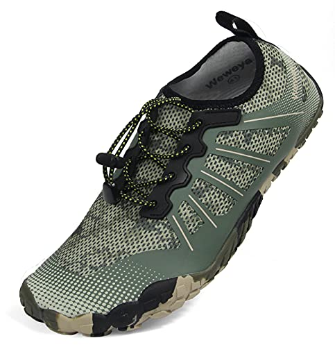 Mens Quick Dry Water Shoes Non Slip Beach Swim Shoes Kayak Hiking Fishing Shoes for Water Sports Swimming Driving Boat Camouflage Women Size 12 Men Size 11