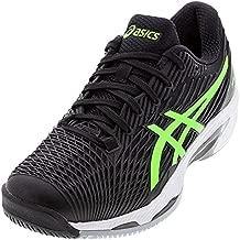 ASICS Men's Solution Speed FF 2 Tennis Shoes, 9, Black/Green Gecko