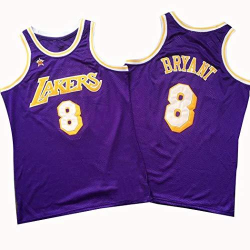Kobe Bean Bryant 8# Basketball Jersey, Männer 98 Jahre All-Star Retro Basketball-Trikot, NBA Swingman ärmel-Trainings-Kleidung, in voller Größe (Color : Blue, Size : M)