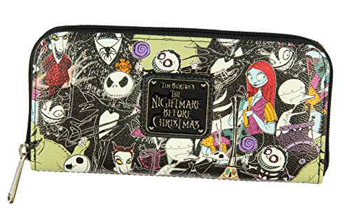 The Nightmare Before Christmas Allover Print Character Zip Around Wallet