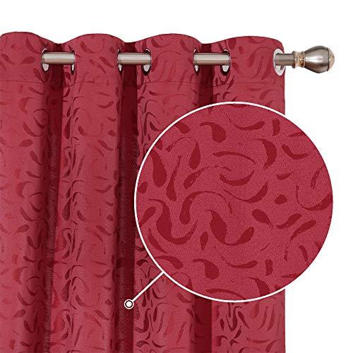 Deconovo huisdecoratie oogje gordijnen met jacquard spindrift patroon