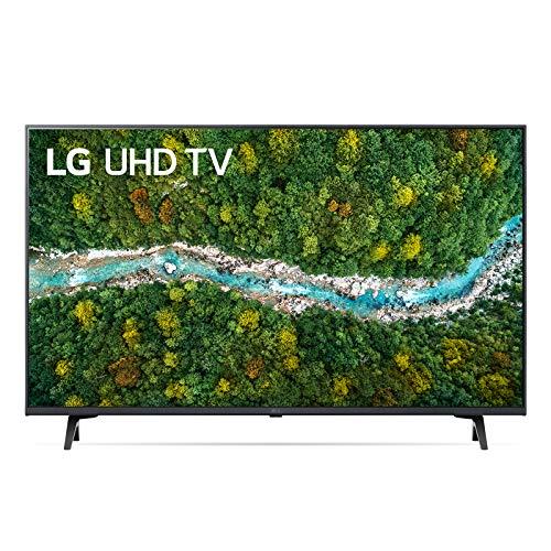 "LG 43UP77006LB Smart TV LED 4K Ultra HD 43"" 2021 con Processore Quad Core 4K, Wi-Fi, webOS 6.0, FILMMAKER MODE, Game Optimizer, Google Assistant e Alexa Integrati, 2 HDMI 2.0, Telecomando Puntatore"