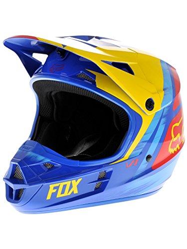 FOX V1 Vandal - Casco V1 - Amarillo/Azul, 8