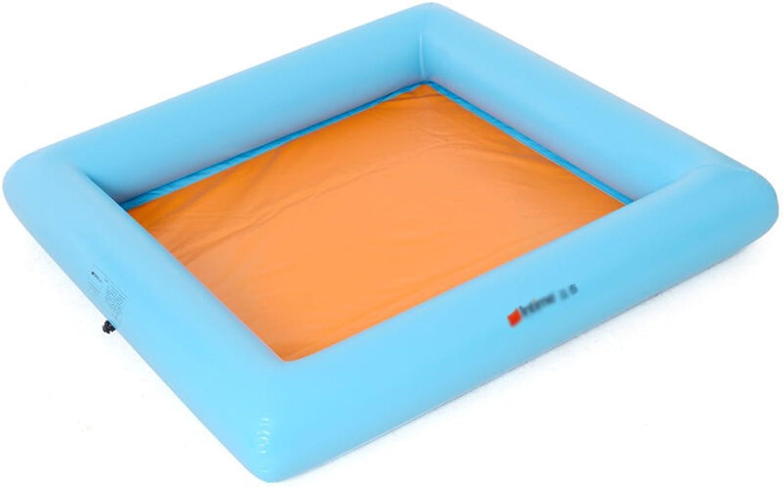 LXJYMX Aufblasbares Spiel-Strand-Pool der Kinder groes Pool-Blau - Tragbare Badewanne (gre   200  200cm)