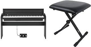 【セット買い】KORG 電子ピアノ LP-180-BK 88鍵 ブラック ペダル、譜面立て付属 アコースティック・ピアノタッチを再現したNH鍵盤 & Dicon Audio SB-001 Keyboard Bench キーボードベンチ ピアノ椅...