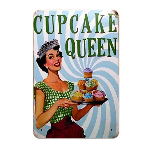 Cartel de metal, pintura de pastel, arte, decoración del hogar, cartel Retro, cartel de chapa para panadería, cocina, decoración de pared, orden de mezcla-20x30cm