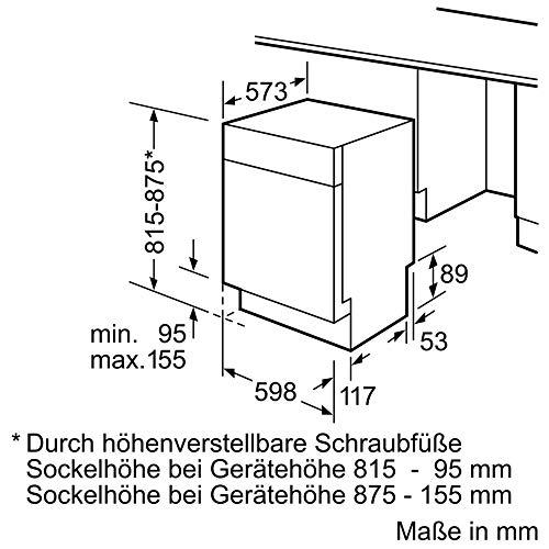 Bosch Elettrodomestici Serie 4 SMU46LS00E Lavastoviglie, Silenceplus, Display a 7 Segmenti, 60 cm, 7.5 L, 46 Decibel, 14 coperti, A++, Acciaio Inox