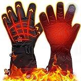 eventek Winter Guantes Calefactables, 4000 mAh, Guantes Eléctricos Recargables de Gran Capacidad, hasta 8 Horas de Tiempo de Calentamiento, Guantes Térmicos con 3 Configuraciones de Calor (Negro, XL)