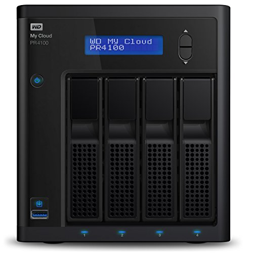 WD My Cloud Pro Series PR4100 - Almacenamiento en Red (NAS) de 32 TB y Servidor Multimedia con transcodificación