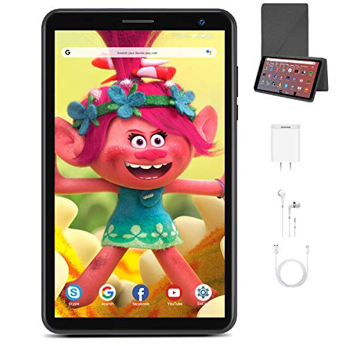 Tablet 8 Pulgadas Android 10.0 Quad Core DUODUOGO E8 WiFi Tablet para Niños 3GB RAM 32GB ROM/128GB Escalables Double Cámara Tablet PC Google GMS Netfilx Batería 5000mAh Juguete para Niños (Negro)
