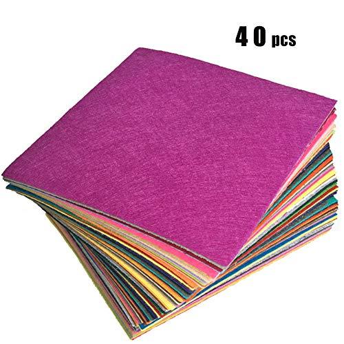 40 Colores Fieltro INTVN Felt Fabric,Hojas de Fieltro para Manualidades Manualidades Fieltro Fieltro Manualidades Tela para DIY Artesanía Costura Proyectos Patchwor